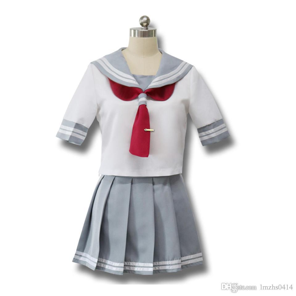 Japanische Anime Love Live Sonnenschein Cosplay Kostüm Takami Chika Mädchen Sailor Uniformen Love Live Aqours Schuluniformen