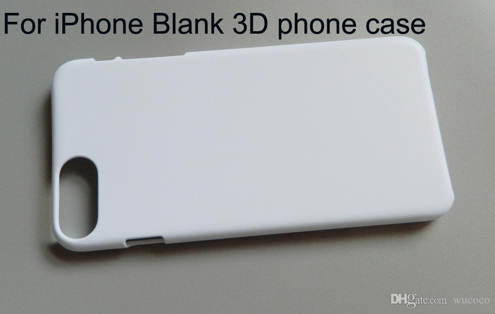 Coque de téléphone vierge Sublimation pour iPhone X XR XS Max 5 6 7 8 plus 3d Coque de protection pour PC dur 10 pièces / lot