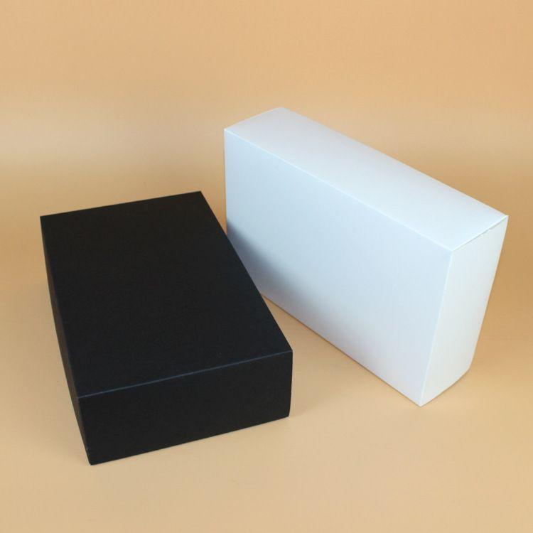 28*18*8cm Large Black White Paper Gift Box Cardboard Packing Box for Bra T-shirt Shoes Underwear wen7042