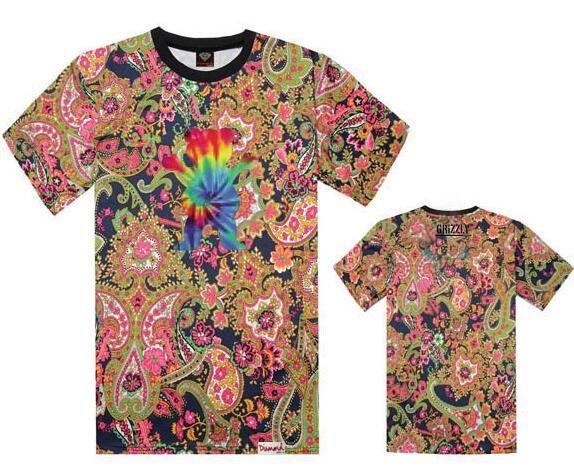 Nuevo estilo Grizzly x diamante camiseta Hombres Deporte de Manga Corta de lujo Impreso Hip Hop Camiseta Hombres Hipster Ropa camiseta Streetwear Tees Camisas