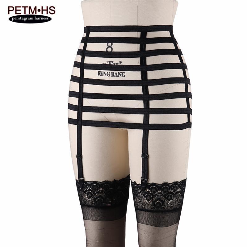 Elastic garters thigh hip bondage garter belt harness lingerie