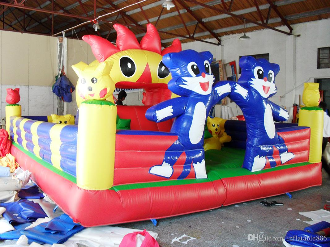2017 new design funny PVC inflatable fun city for kids