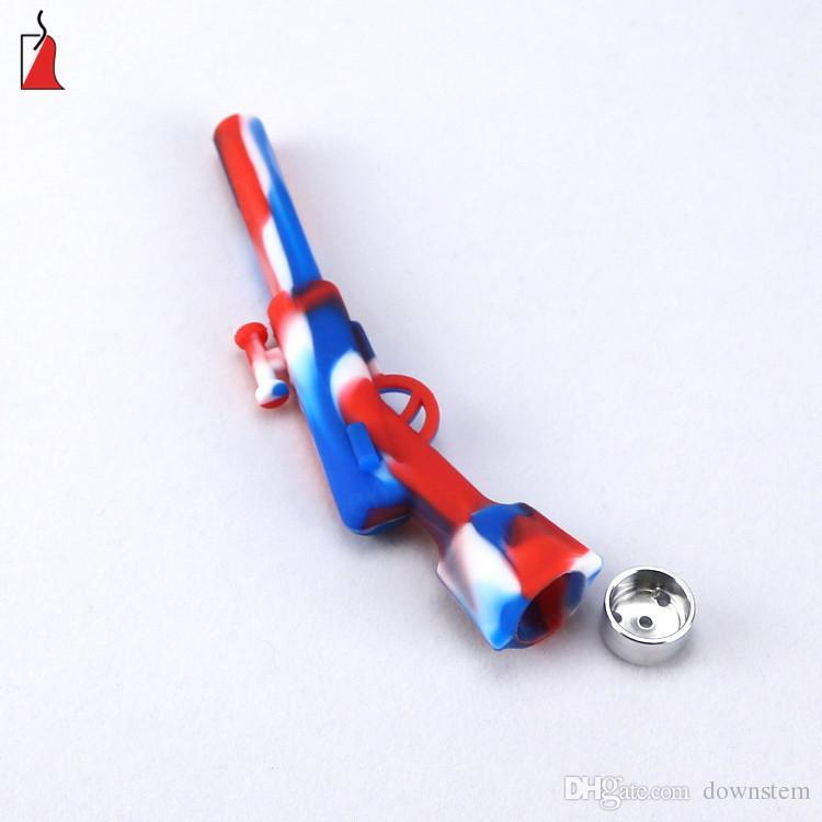 Tuyaux de silicone de conception minuscule Pipe à fumer portable Pipes à main pratiques mini pipes à tabac livraison gratuite