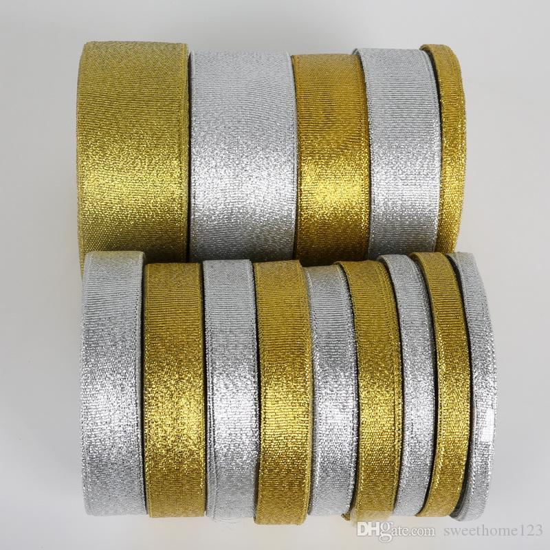 Блеск ленты мульти размер 22 метров лямки металлический блеск золотой серебряный цвет свадьба рождественские украшения карты подарочная упаковка DIY Craft
