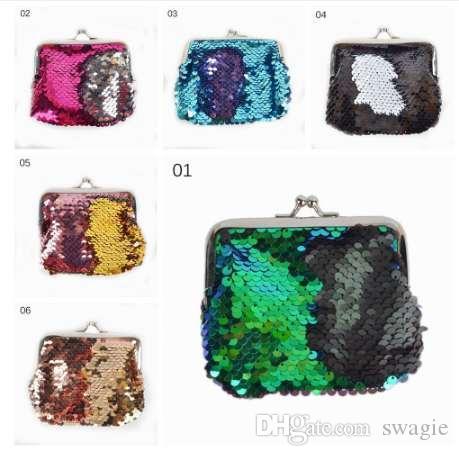 Crianças Menina Lantejoulas Fivela Mini Mudança Da Carteira Bolsa Da Moeda Da Embreagem Bolsa Handy Key Coin Bag Embreagem Carteira Bolsa Acessórios de Moda