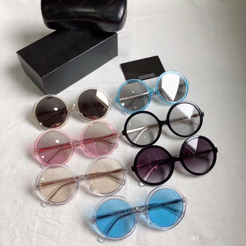 Women Designer ch6070 Round Sunglasses Black/Grey Gradient 58mm Sonnenbrille Eyewere Glasses outdoor 3595 new in box