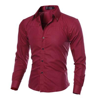 2018 году известный бренд Мужская рубашка с длинным рукавом повседневные Slim Fit Мужские рубашки платья Проверьте Plaid Камиза Social Masculina Plus Размер 5XL