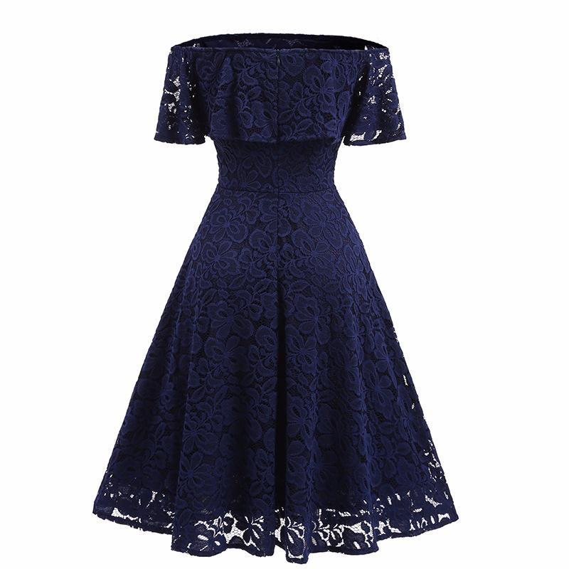 Robe de demoiselle d'honneur vintage en dentelle