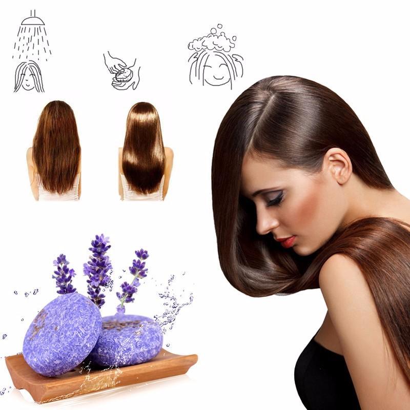 Handmade Hair Shampoo Magic Soap Pure Natural Dry Shampoo Soap Oil-control Anti-Dandruff Off Hair Care #709