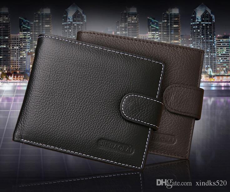 Foreign Korean Edition Wallet 2018 Short Trade Men Wallet Short Buckle New Men New Enjsa
