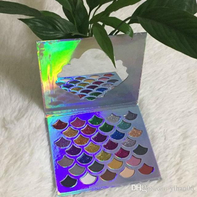 Cleof Eye Makeup The Mermaid Glitter Eyeshadow Palette فاشل فينيكس رايزغ ظل عينيه Huda Eyes 3D Beauty Highlight Palettes