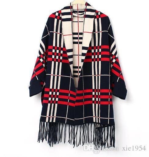 Имитация кашемир плед осень зима внешней торговли леди кисточкой мода шарф мягкие и удобные производители прямых продаж оптом