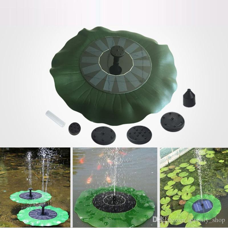 Solar Water Pump Floating Waterpomp Panel Kit Fountain Pool Pump Kit Lotus Leaf Floating Pond Watering Submersible Garden Water Pump