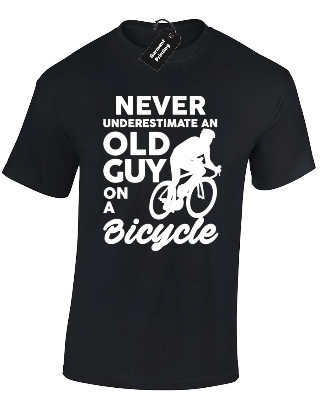 لا نقلل من العمر غي رجل تي شيرت الدراج تصميم هدية فكرة جديدة القمصان مضحك القمم المحملة جديد شحن مجاني