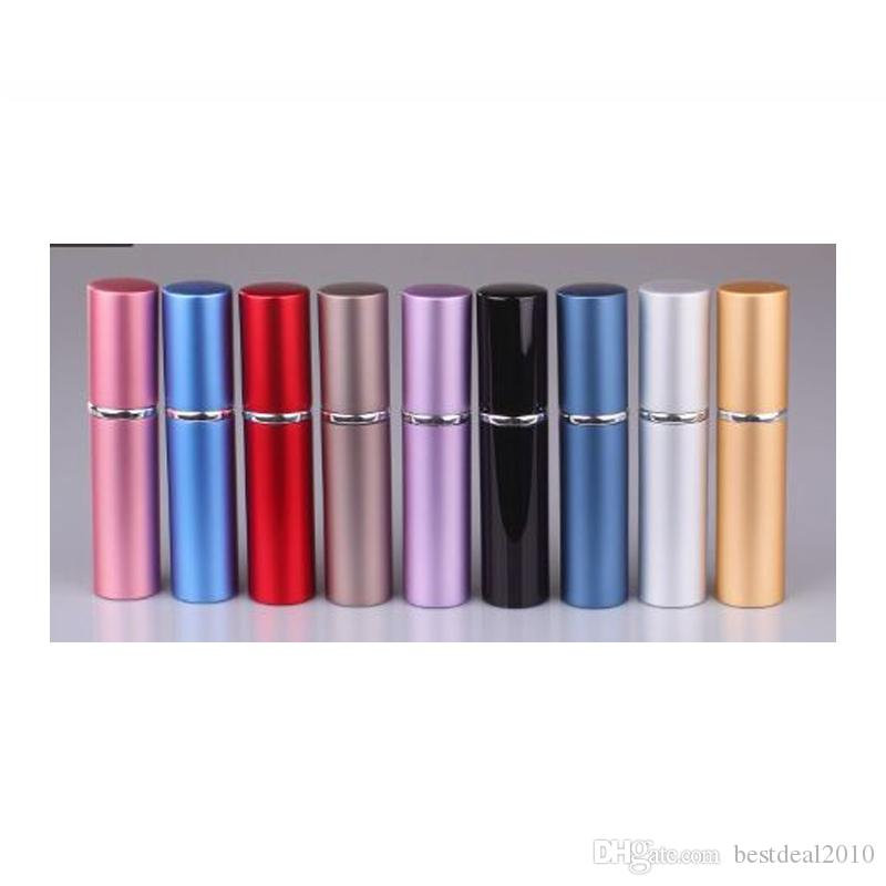 6 ml Mini Taşınabilir Doldurulabilir Parfüm Atomizer parfüm Renkli Seyahat için Sprey Şişe Boş Parfüm Şişeleri atomizer Kozmetik Konteynerler