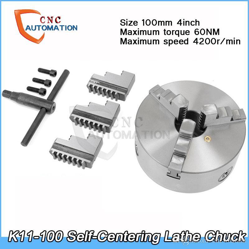 تشاك تورط الذاتي تشاك 4200RPM 4 بوصة 3 الفك 100 ملليمتر K11-100 مع وجع والمسامير تصلب الصلب لآلة طحن الحفر