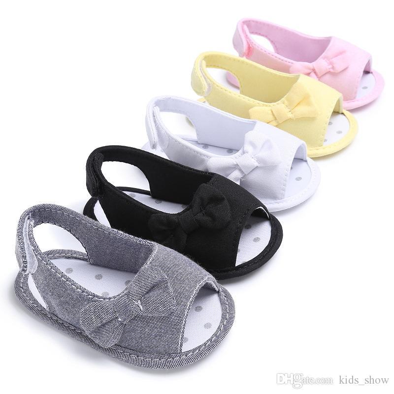 recién nacido bowknot sandalias bebé Casual Al aire libre Princesa Zapatos niñas antideslizante Soft Sole zapatos infantiles 0 ~ 12 Mes