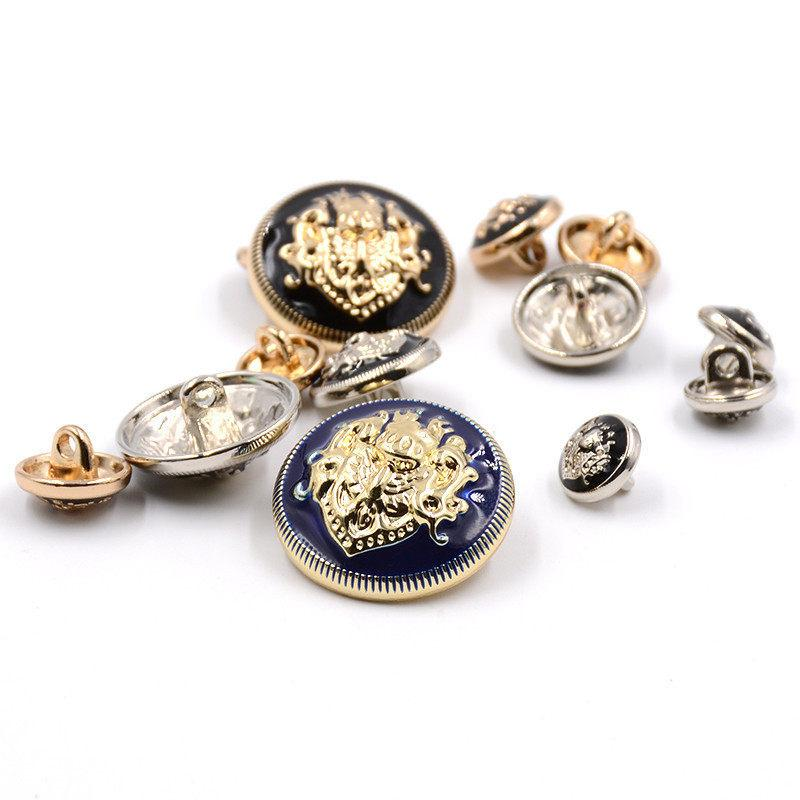 Meetee Hight Quality Alloy 10mm-25mm Metal Apply to Dress Shirt Buttons Overcoat All-Match Buttons Free Shipping D4-7