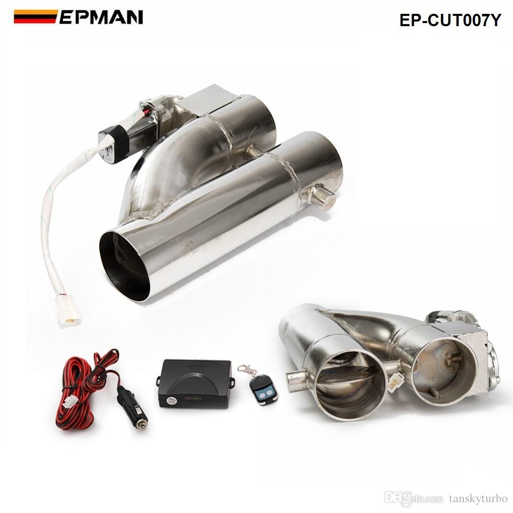 """2"""" /2.25"""" / 2.5"""" / 3"""" Exhaust Piping Patented Product Electric Exhaust Downpipe Cutout E-Cut Out Dual-Valve Controller Remote Kit EP-CUT007Y"""