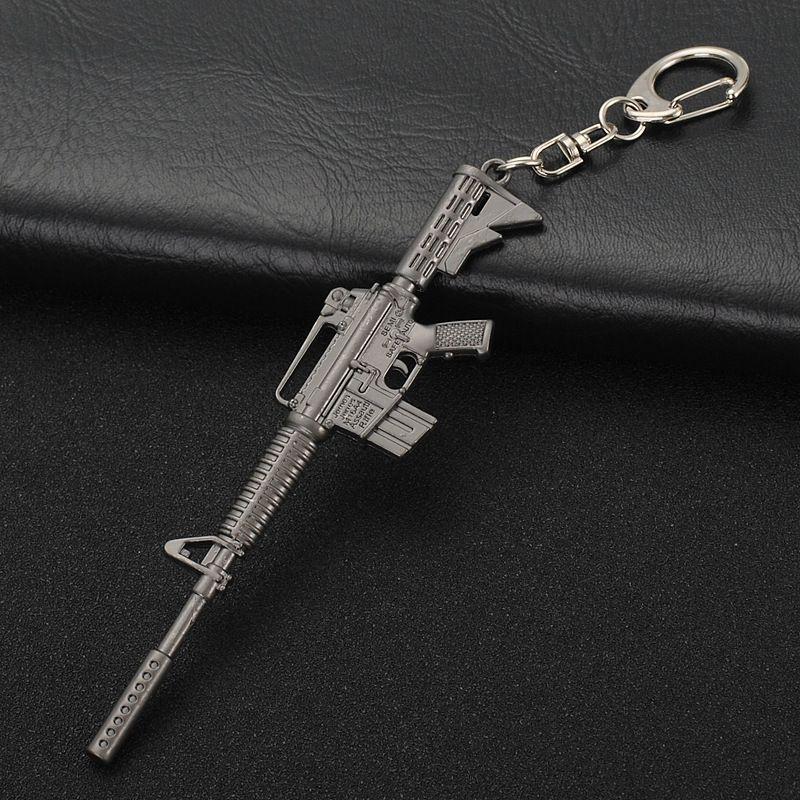 Game PUBG Playerunknown's Battlegrounds Gun Model Keychain Mini Cosplay Key Chain Key Rings Fashion Jewelry Gifts New