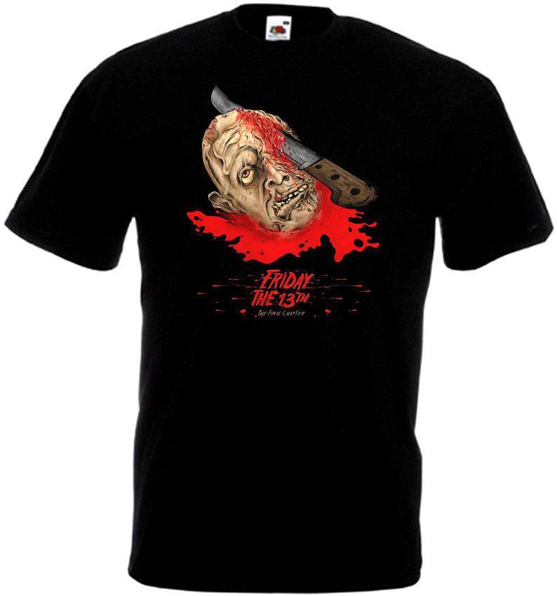 Sexta-feira O 13º V41 Camiseta Preto Movie Poster Todos Os Tamanhos S-3xl T-shirt Dos Homens de Manga Curta Camiseta Impressão Camisetas
