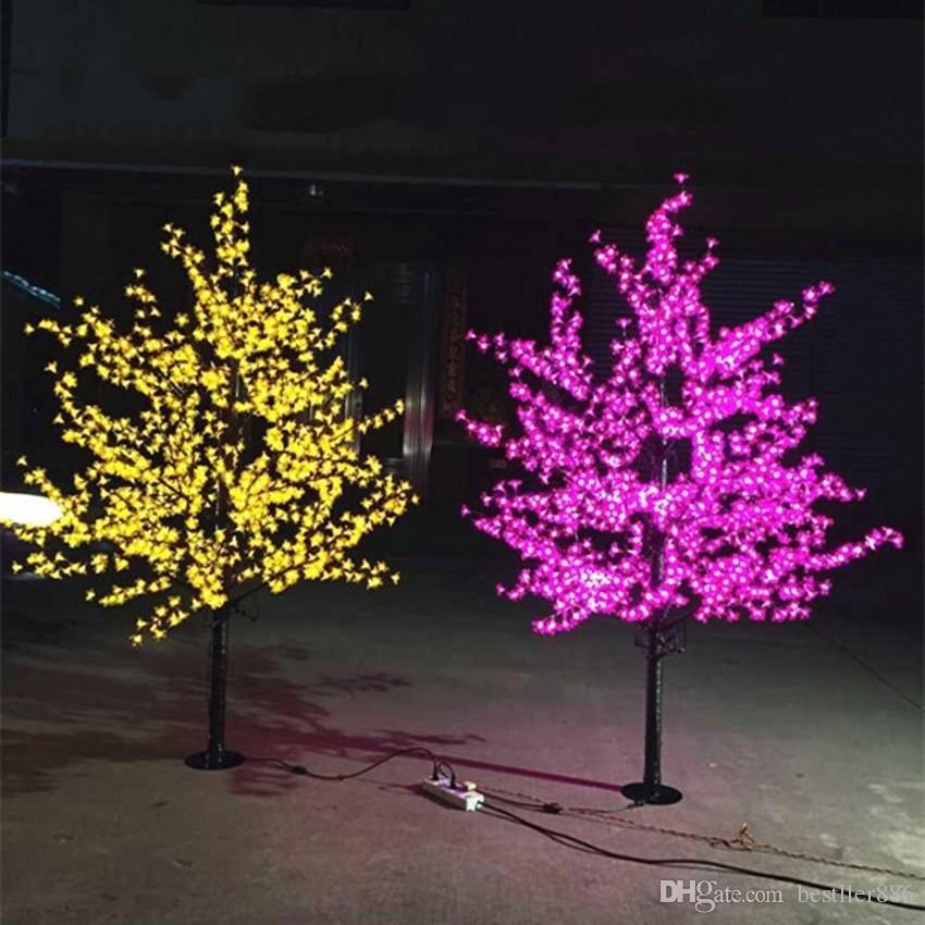 Luz artificial de la Navidad de la luz del árbol de la flor de cerezo del LED 1152pcs LED bulbos 2m / 6.5ft Altura 110 / 220VAC Uso al aire libre a prueba de lluvia Envío libre