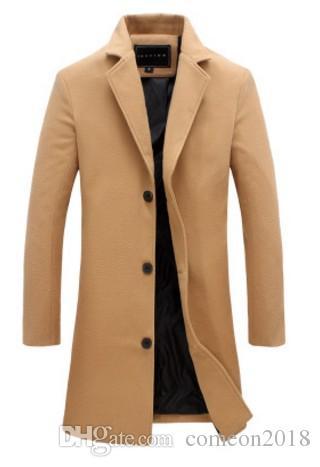 mens trench coats designer jackets windbreaker 2018 Mens Designer Winter Coats mens clothes plus size clothing for men solid color overcoats