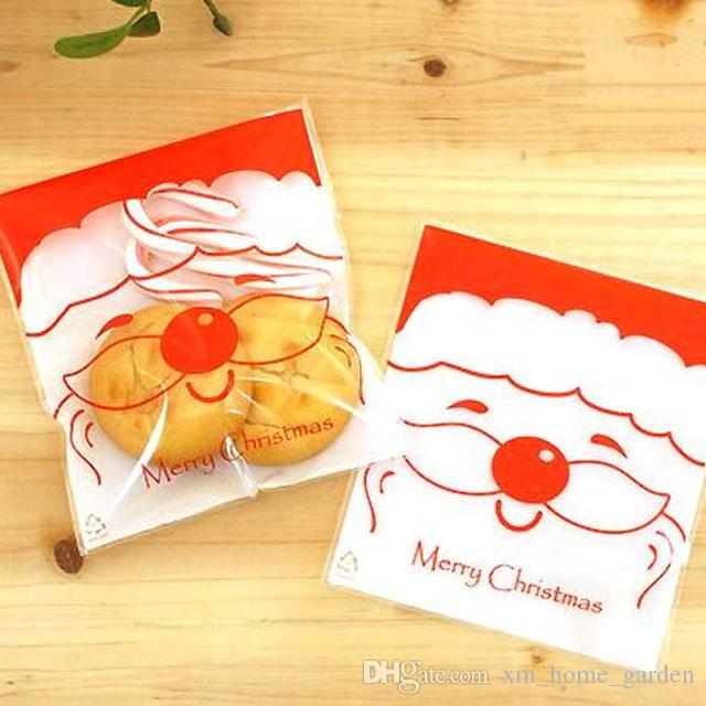 10X Cute Candy Cookie Bags Birthday Christmas Greeting Cards Gift Package Pouch