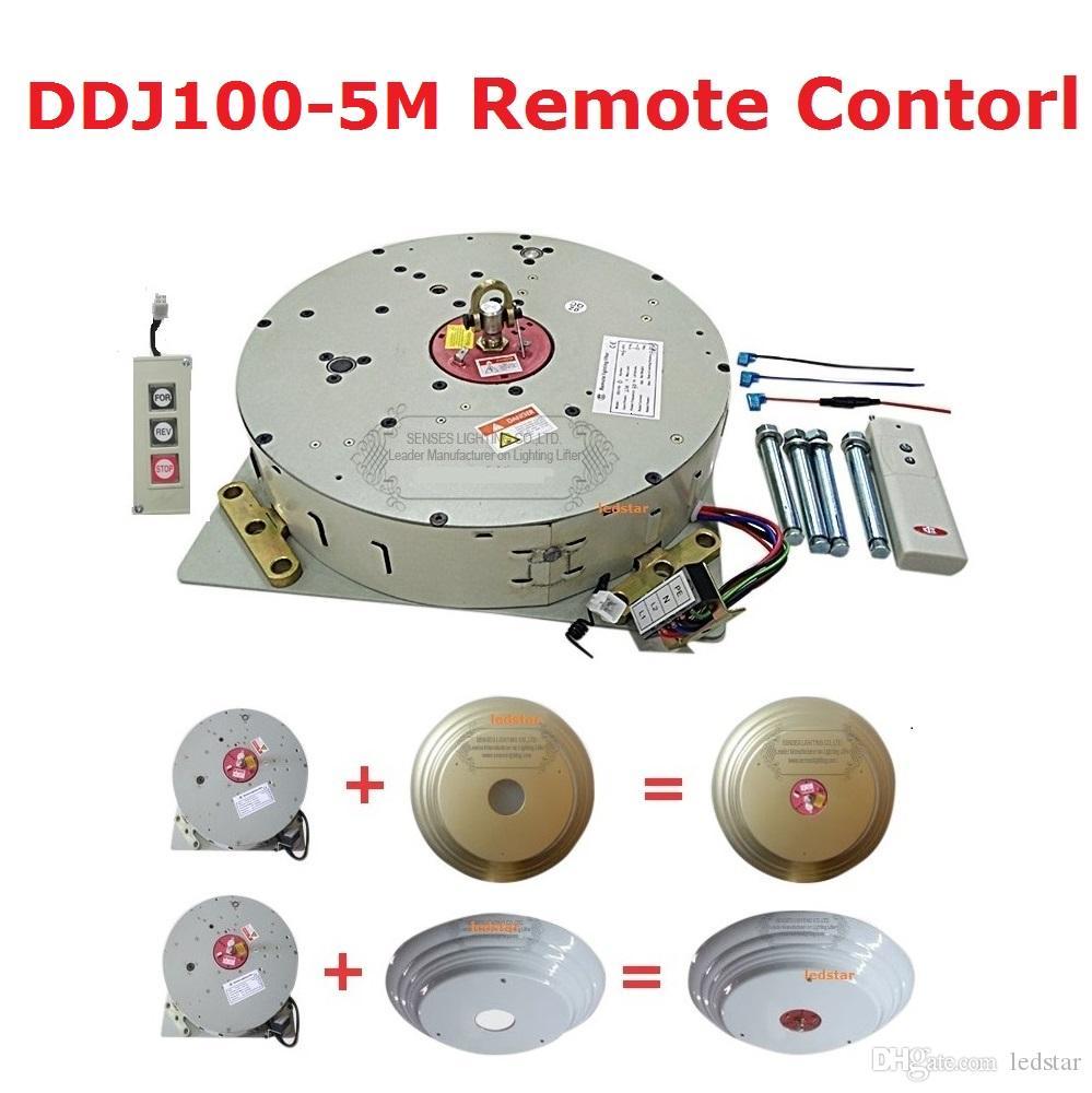 Auto paranco a cristallo con telecomando Lampadario Paranco elettrico Sollevatore elettrico Sistema di sollevamento della luce Motore DDJ100 Cavo da 5 m