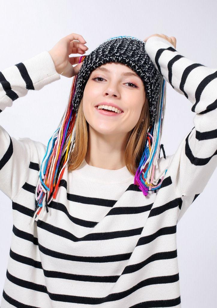 Musikalischer Hut Drahtlose Bluetooth Smart Beanie Hut Musikalische Kopfhörer Lautsprecher Frauen Quaste Strickmütze Mikrofon Hände CNY724