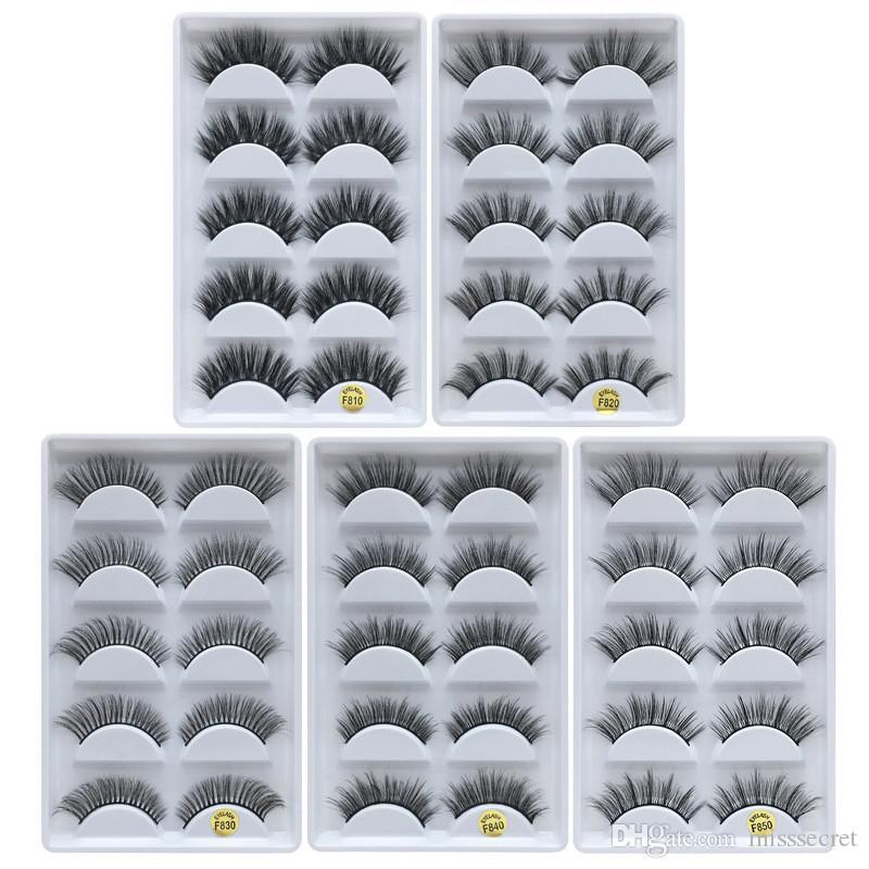 최신 3d 밍크 속눈썹 자연 두꺼운 거짓 속눈썹 밍크 속눈썹 눈 메이크업 속눈썹 확장 가짜 속눈썹 드레싱