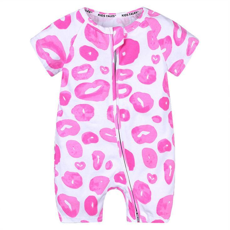 Mamelucos del bebé del verano Ropa de manga corta para bebés y niños Mono para bebés Bebé recién nacido ropa Mameluco de algodón