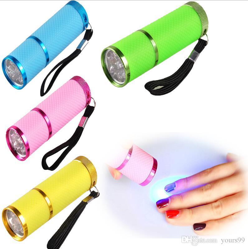 New Arrival Mini Nail Dryer LED UV Lamp Professional Led Lamp Gel Polish Nail Dryer LED Flashlight Fast Cure Nail Dryers free ship