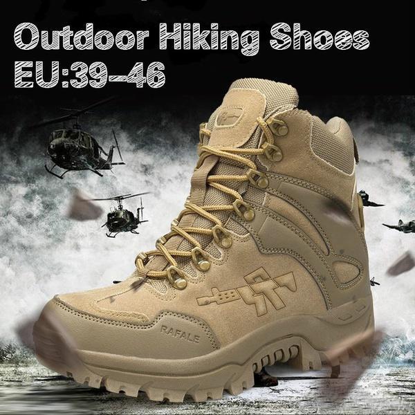 06f6e06175 Mens inverno Botas Táticas Militares Deserto De Couro Ao Ar Livre Botas de  Combate Do Exército Caminhadas Sapatos de Viagem Botas Masculinas Trekking  Botas ...