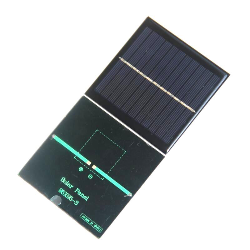BUHESHUI 5.5V 1W mini painéis solares pequena potência solar 3.7Vbattery carregador solar celular 95 * 95 * 3mm estudo epóxi 50 pcs / lote