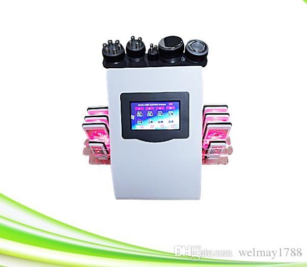 6 in 1 Ultrasonik kavitasyon rf zayıflama makinesi 5 Mhz RF İnce Radyo frekansı AĞIRLIK KAYBI Cilt Bakımı rf kavitasyon maki ...