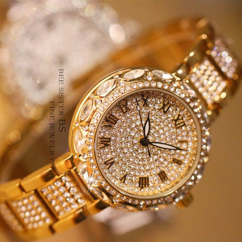 Marque Quartz Dames Montre Strass reloj mujer Étanche Femmes Montres En Acier De Luxe Montre-Bracelet Relogio Feminino Montre Femme S917