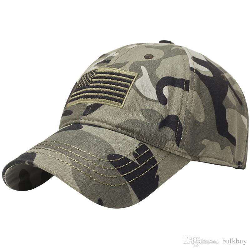 Outdoor Sport Cycling Running Cappelli Flag Embroidery Hat Sottile linea blu Flag Low Profile Tactical Hats Cap ricamato