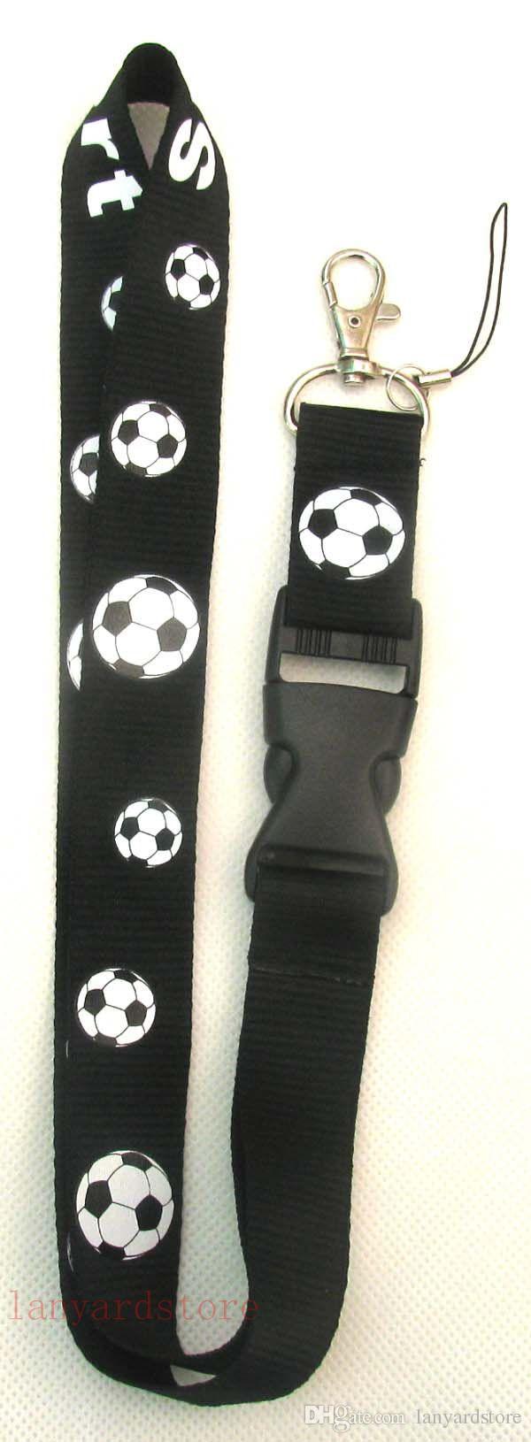 Correa del teléfono del fútbol correa del cuello cordón clave tarjeta de identificación teléfono móvil soporte USB cordón cinta 2 colores