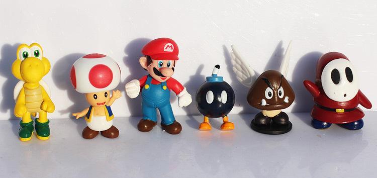 액션 피규어 18 개 / 대 슈퍼 마리오 브라더스 요시 공룡 복숭아 두꺼비 Goomba Pvc 액션 피규어 장난감 무료 배송