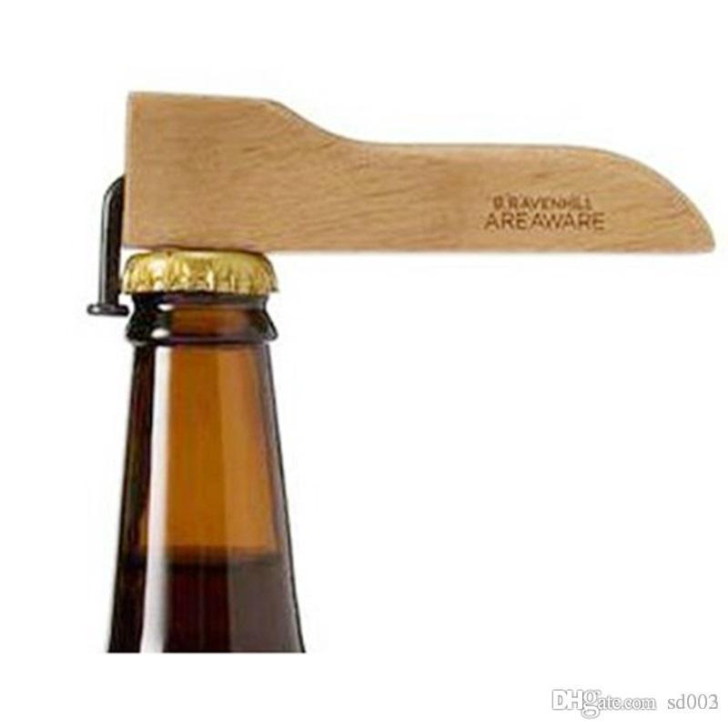 자석 맥주 병 뚜껑 오프너 나무 손잡이 네일 맥주 와인 깡통 따개 코르크 부엌 바 실용 도구 4 6mh ZZ
