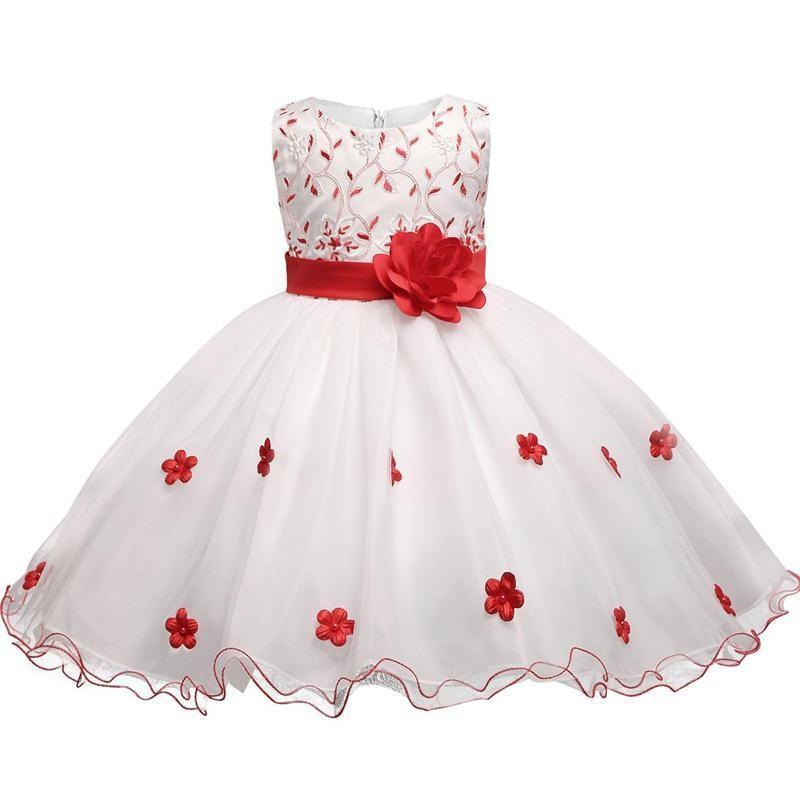 Compre Vestido De Niña Pequeña Flor Niños Vestidos De Navidad Para Niñas Vestido De Graduación De La Princesa De La Muchacha De Los Niños De Tulle