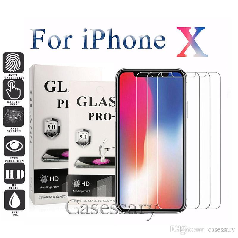 Premium Quality Tempered Glass Screen Protector For iPhone 11 Pro Max XR XS Anti-Shatter Anti-Fingerprints 0.26mm 2.5D 9H Hardness