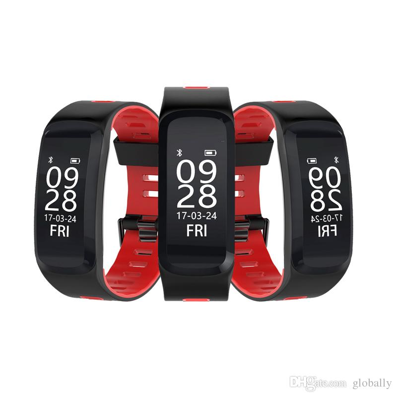 Smart wristband F4 Support Blood pressure Blood oxygen heart rate Air pressure, Altimeter Auto-wake up Fitness bracelet smart watch