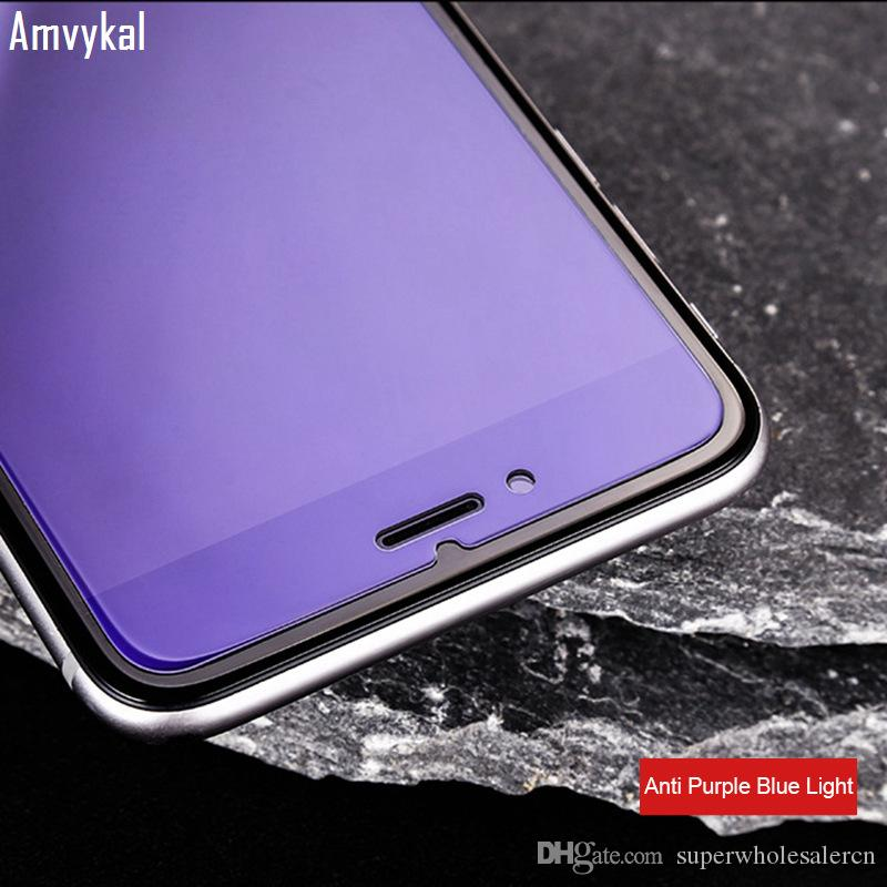 Tempered Glass Screen Protector For iphone 11 Pro XR XS Max SE 5S 6s 7 8 Plus Anti-Purple Blue Light Tempered Glass