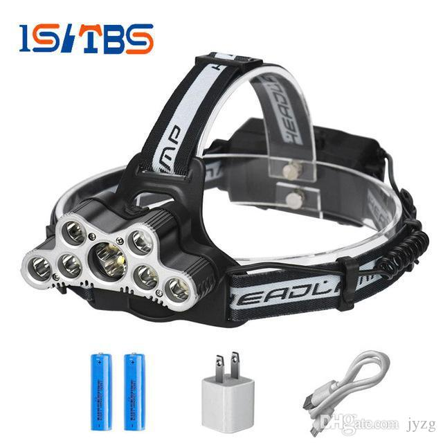 super bright led headlamp 9 CREE XML T6 LED headlight usb rechargeable head lamp 18650 high power led torch head flashlight