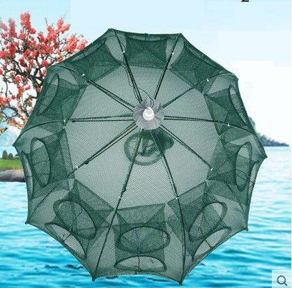 Portable 20\16\12 Multi Holes Automatic Folding Fishing Shrimp Trap Fish Net Minnow Crab Baits Cast Mesh Trap With Storage Bag Free Shipping