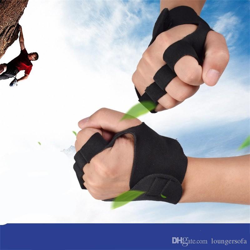 Ao ar livre Musculação Meia Luvas de Dedo Exercício Não Slip Treinamento de Fitness Luvas De Escalada Ventilação Ginásio Pulso Guarda 4 7 m Ww