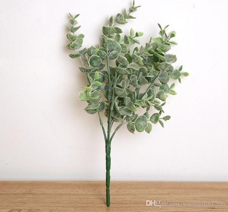 Artificial plástico acebo hojas verdor ramo de flores de seda para bodas centros de mesa nupcial ramo fiesta en casa decoración de vacaciones
