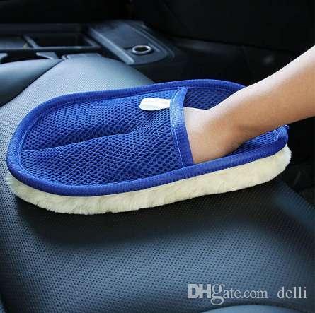 جديد سيارة غسالة أداة 1 قطعة غسيل السيارات النظيفة الإسفنج فرشاة الزجاج منظف موجة زرقاء سيارات غسل مثلث جودة عالية 15